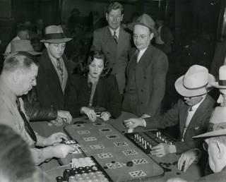 Moe Sedway plays Farabank (Old Tiger) at the Golden Nugget Casino. Sedway was a known associate and lieutenant for mobster Meyer Lansky.