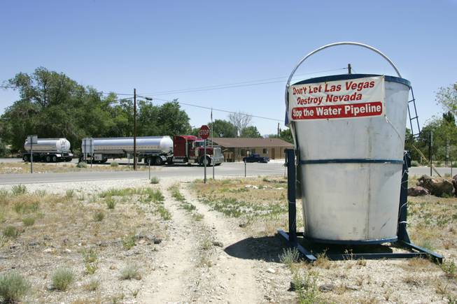 On a dusty corner lot in the tiny town of Baker, a sign reflects the sentiment: Leave Snake Valley's water where it belongs, in Snake Valley. Ranchers in Spring Valley sold out to Las Vegas, but Baker continues the Snake Valley fight.