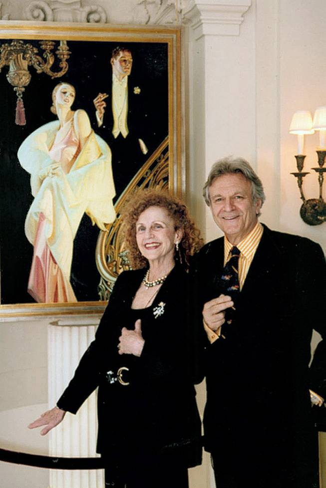 "Art dealer Judy Goffman Cutler, shown with her husband, Laurence, traded longtime client Steven Spielberg another painting for ""Russian Schoolroom"" to extract him from the legal dispute with Jack Solomon of Las Vegas over that stolen work."