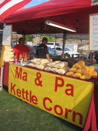 Jeff and Dawn Young own Ma & Pa Kettle Corn and sell their product at outdoor events, farmers markets and Whole Foods on Saturdays.