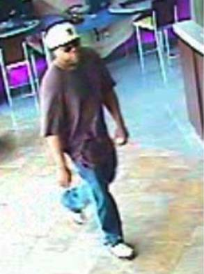 Police released this surveillance video image of a bank robbery suspect.