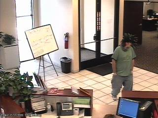 Community Bank surveillance video image..