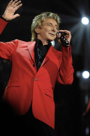 Barry Manilow at the Paris on March 6, 2010.