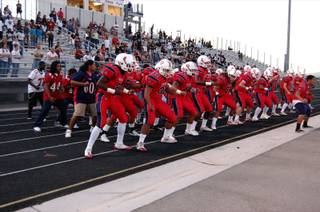 The Patriots danced the Haka, a traditional Polynesian war dance, before Friday night's game against Durango.