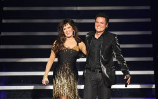 Flamingo headliners Donny and Marie Osmond.