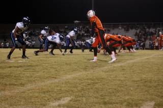 Chaparral sets up for an offensive play against Canyon Springs on Friday night.