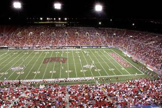 UNLV plays Iowa State at Sam Boyd Stadium in Las Vegas.