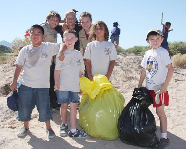 Members of Silverado's Cub Scout Pack 321 take a break ...