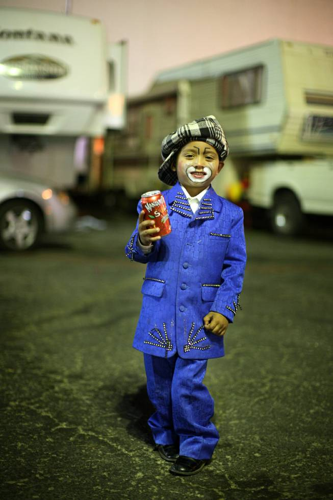 """Papelito"" Ivan Jimenez Barajas, 3, is in the fourth generation of Circo Atayde clowns."