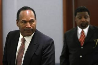 O.J. Simpson, left, and co-defendant Clarence