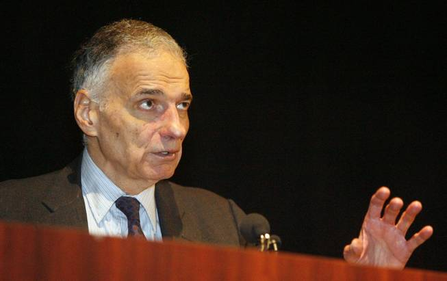 Independent presidential candidate Ralph Nader speaks to students and others during a news conference and campaign stop at OSU-Tulsa on Thursday, Sept. 19, 2008.