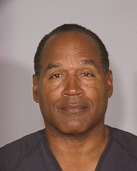 Photo of O.J. Simpson after his conviction.