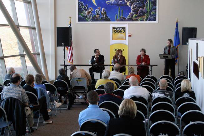 About 45 people came to the Paseo Verde Library to hear from six candidates for State Assembly and Senate Monday afternoon. The candidates were split into two panels, each of which spent about an hour answering questions from a moderator and from the audience.