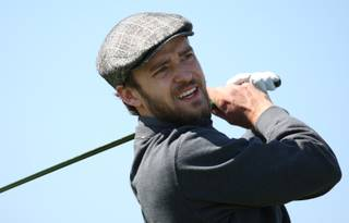 Justin Timberlake drives off the second tee during a pro-am at TPC Summerlin. This year's Justin Timberlake Shriners Hospitals for Children Open, part of the PGA Tour's fall series, will be played Oct. 21 through Oct. 24 at the course.
