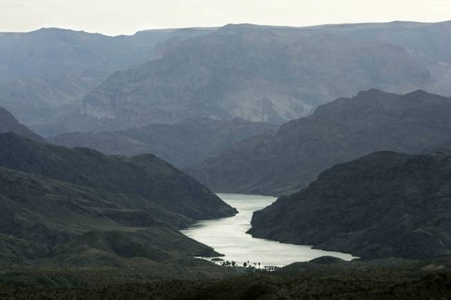 The Colorado River, which is the main source of water for Southern Nevada, winds past Willow Beach, Ariz.