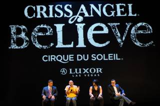 Criss Angel and Cirque du Soleil hold a press conference Friday in preparation for the premiere of