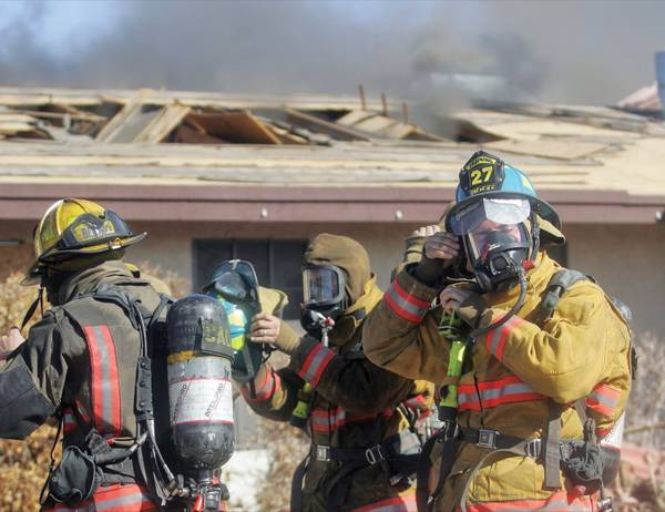 Rookie Firefighters Take Part In Training Exercise