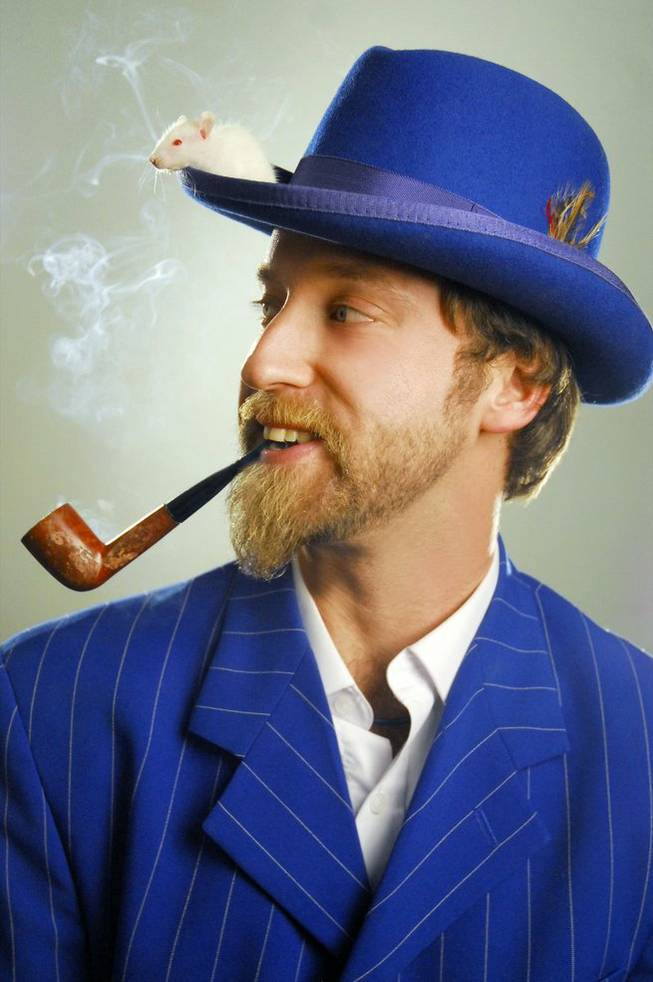 Is that a mouse on your hat or are you just happy to see Josh Blue?