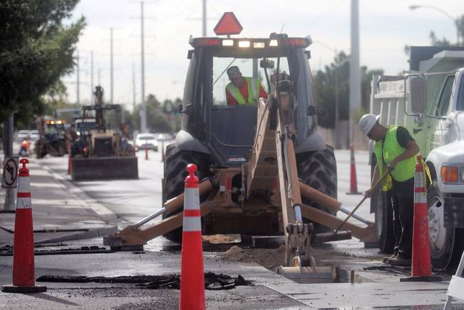 Road construction is continuing on Durango Drive just south of Alta Drive.