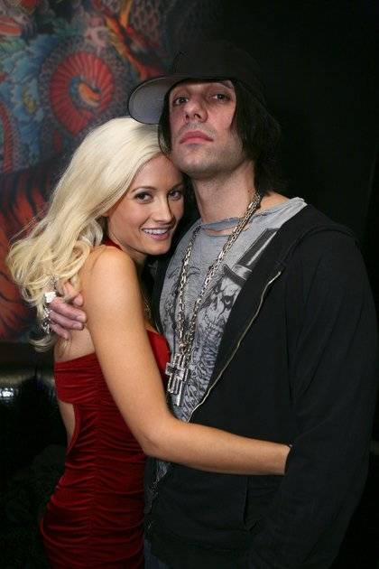 Criss Angel and Holly Madison.