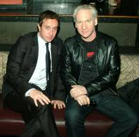 Pauly Shore and Bill Maher in the club.