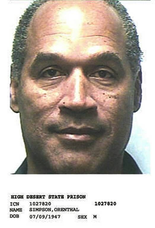 This is O.J. Simpson's booking photo in Nevada's High Desert State Prison.