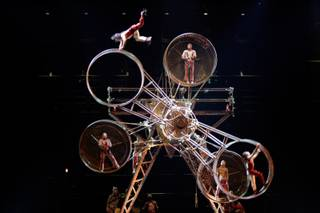 The Wheel of Death act is performed during Cirque du Soleil's