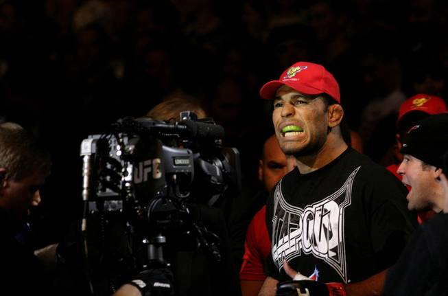 Antonio Nogueira walks toward the Octagon on Saturday night for his interim heavyweight title fight with Frank Mir at UFC 92.