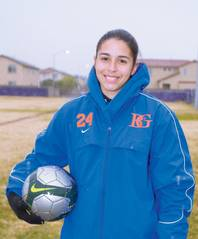 Bishop Gorman goalie Alex Holland poses for a portrait during a Bishop Gorman girls soccer game at Durango.