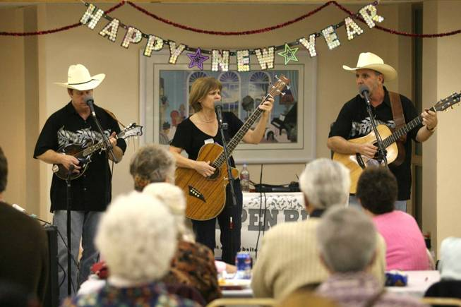 Members of the bluegress band Aspen Ridge perform a set during a New Years Eve celebration at the Boulder City Senior Center on Wednesday, Dec. 31, 2008.