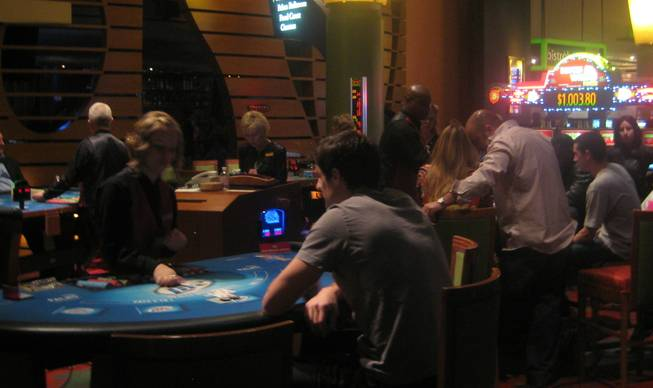<p>7:30 p.m.: The Palms casino floor was abuzz with bets and bettors on New Year's Eve.</p>