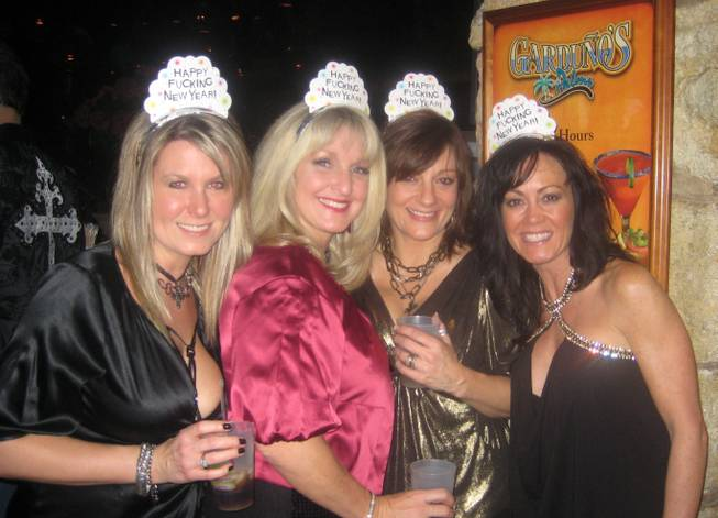 <p>8:50 p.m.: Four mothers, no children: These women left their nine kids at home and flew to Las Vegas with their husbands to ring in the new year at the Palms.</p>