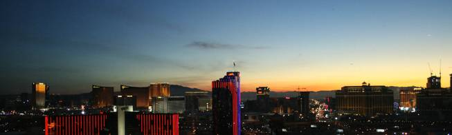 6 a.m.: A new day starts as a new year begins: The sun rises above Las Vegas on Jan. 1, 2009.