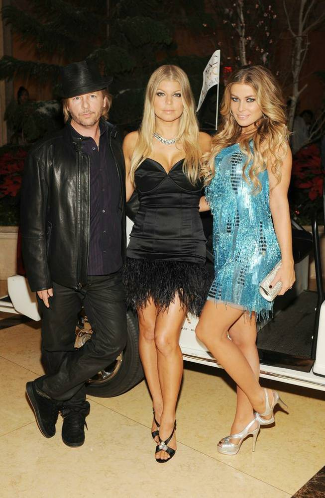 David Spade, Fergie and Carmen Electra.