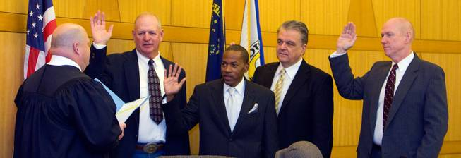 Commissioners sworn in