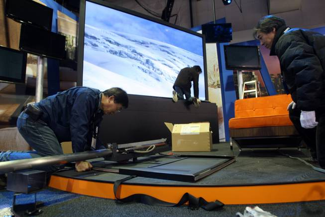 Consumer Electronics Show sets up