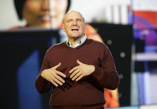 CES keynote speaker Microsoft CEO Steve Ballmer talks about Microsoft's new technology for the coming year.