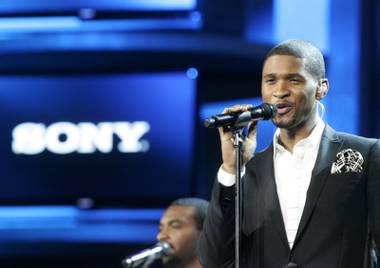Usher performs during Sony's presentation at the International Consumer Electronics Show on Jan. 8, 2009, in Las Vegas.
