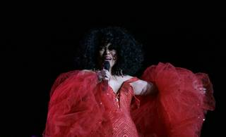 Diana Ross performs to close the Monster Retailer Awards held at the Paris Hotel Friday night.