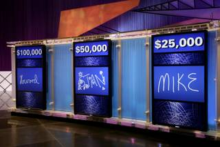 The new set of the game show 'Jeopardy!' debuted at CES.  The set includes 36 new high-def Sony televisions and one original Alex Trebek.