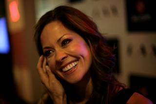 Brooke Burke hosted the Intel/PC.com party that was held at LAX nightclub inside of the Luxor