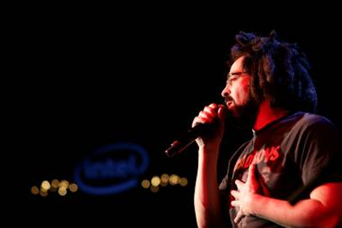 Counting Crows plays the Intel/PC.com party that was held at LAX nightclub inside of the Luxor