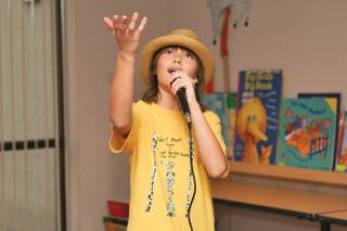 Angelo Moliner, 10, performs