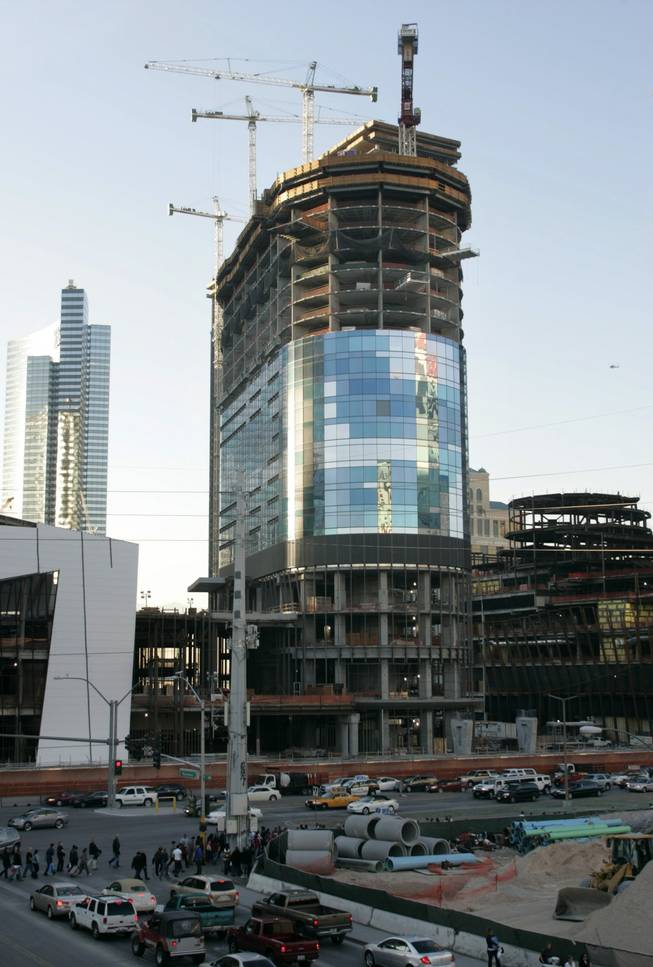 Retooling the Harmon: The Harmon Hotel, part of the CityCenter complex, is shown Dec. 30.