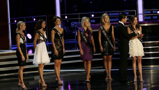 Miss Indiana Katie Stam during the Interview portion of the 2009 Miss America Pageant at Planet Hollywood in Las Vegas on Jan. 24, 2009.