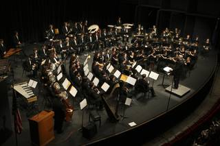 The Wind Ensemble led by Dick Mayne performs