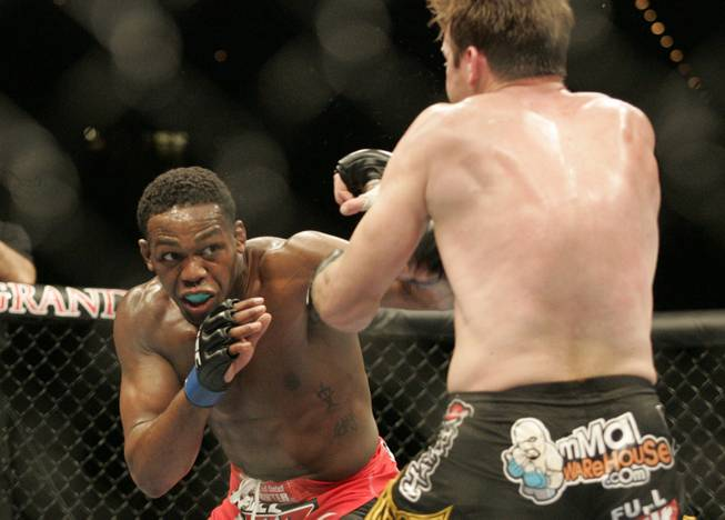 Jon Jones looks for an opening on Stephan Bonnar during their bout at UFC 94 on Jan. 31, 2009. Jones won by decision.