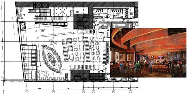 The new Hard Rock Cafe will open in July 2009 and will include a retail shop, concert venue and private meeting space.