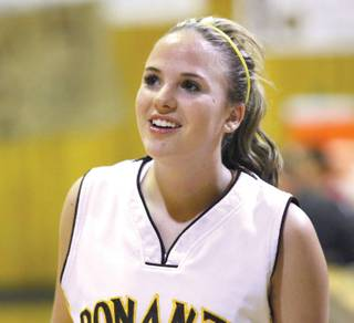 Bonanza senior guard Christin Figgins, a four-year varsity performer, is averaging 15 points and five assists per game to lead the Bengals to a 19-2 record.