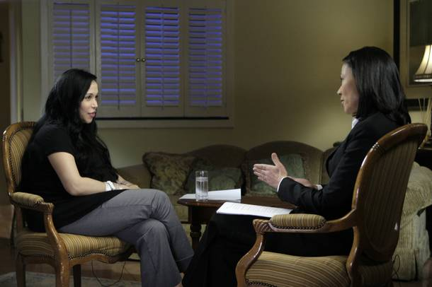 Nadya Suleman talks it out with NBC's Ann Curry.